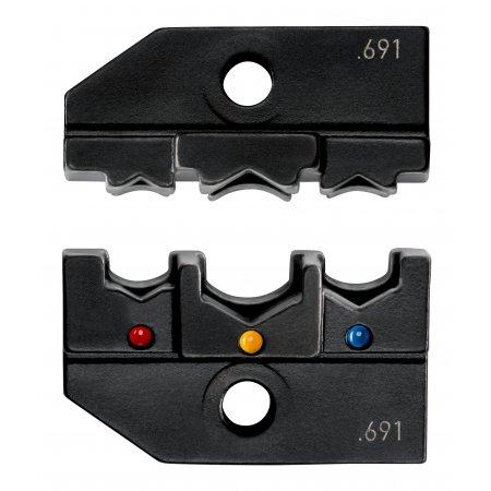 Lisovací profil Knipex pro izolované konektory PIDG