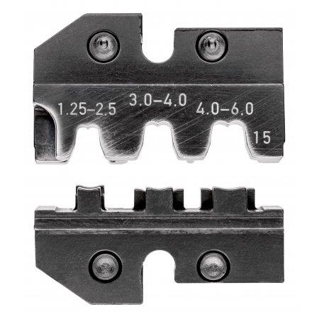 Lisovací profil pro praporkové konektory a neizolované otevřené konektory