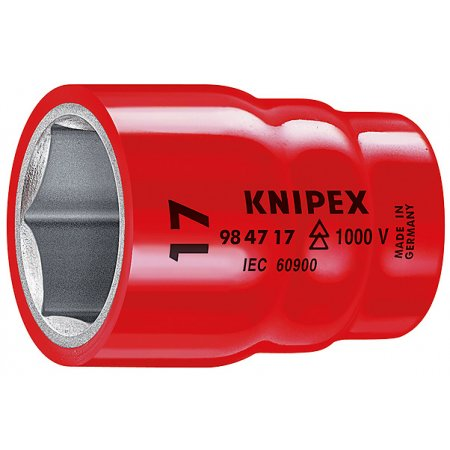 """Nasazovací nástrčný klíč 1/2"""" izolovaný 1000V, Knipex"""
