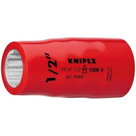 """Hlavice nástrčná 1/2"""" izolovaná 1000V, Knipex"""