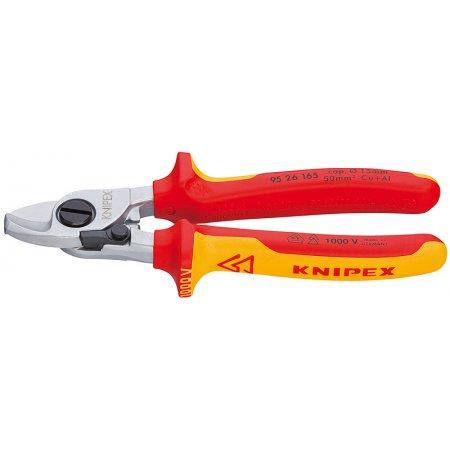 Nůžky na kabely s otevírací pružinou izolované 1000V VDE, Knipex