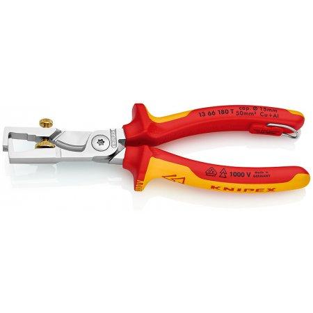 Kleště odizolovací Strix s nůžkami na kabely, Knipex
