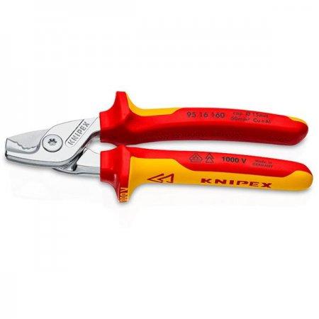 Izolované kabelové nůžky s vícesložkovými návleky KNIPEX 165 mm VDE